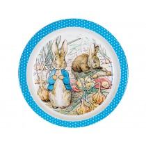 Petit Jour Melamine Plate PETER RABBIT blue