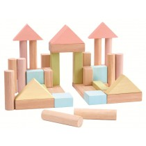 Plan Toys building 40 blocks PASTELL