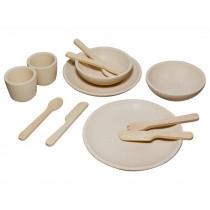 Plantoys Wooden Tableware Set NATURAL