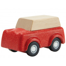 Plantoys Mini Wooden SUV red