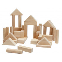PlanToys 40 Wooden Blocks PLAIN