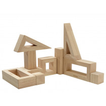 PlanToys 10 Wooden Blocks NATURAL