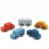 Plantoys Mini Wooden Vehicle Set