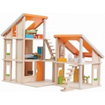 PlanToys Dollhouse CHALET with furniture