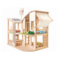 PlanToys Dollhouse GREEN with furniture