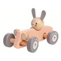 PlanToys racing car RABBIT PINK