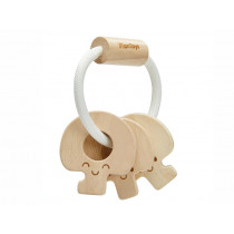 PlanToys Wooden Key Rattle NATURAL