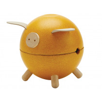 Plantoys Wooden Piggy Bank Orchard YELLOW
