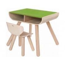 PlanToys table & chair green