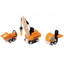 Plantoys Vehicle Set CONSTRUCTION VEHICLES