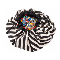Play & Go toy storage bag STRIPES black