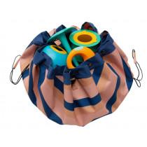 Play & Go toy storage bag MOKKA STRIPES
