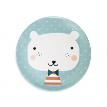 Melamine Plate Bear Triangles by Petit Monkey