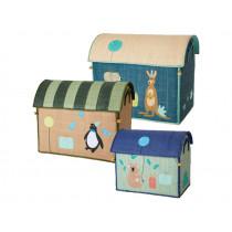 RICE Toy Basket BIRTHDAY ANIMALS