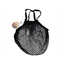 Rex London Organic Shopping Net Bag BLACK