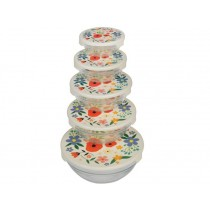Rexinter Glass bowls with lid Summer Meadow