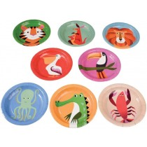 Rexinter party plates Colourful Creatures