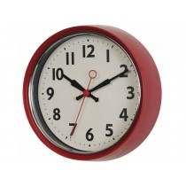 Rexinter wall clock 1950's red