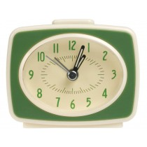Rexinter alarm clock Vintage TV-style green