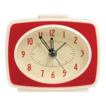 Rexinter alarm clock Vintage TV-style red