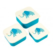 Rex London 3 Snack Boxes ELVIS THE ELEPHANT