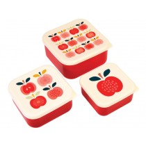 Rex London 3 Snack Boxes VINTAGE APPLE