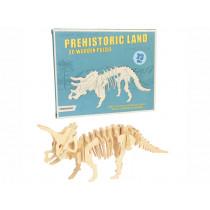 Rex London 3D Wooden Dinosaur Puzzle TRICERATOPS.