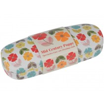 Rexinter glasses case and cloth MID CENTURY POPPY