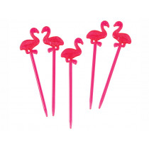 Rex London 12 Cocktail Sticks FLAMINGO