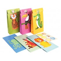Rex London party bags COLOURFUL CREATURES PARTY (SET OF 6)
