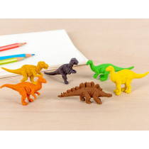 Rex London Set of 6 Rubber Erasers DINOSAURS