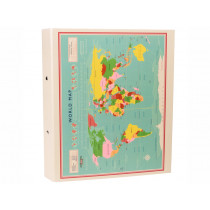Rex London Ring Binder WORLD MAP