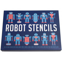 Rex London Stencil Set ROBOTS