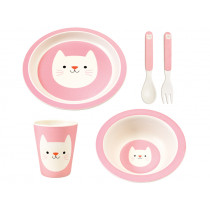 Rex London Bamboo Tableware Set COOKIE THE CAT