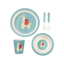 Rex London Bamboo Tableware Set LLAMA