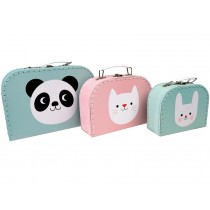 Rex London Toy Suitcase PANDA, BUNNY, CAT