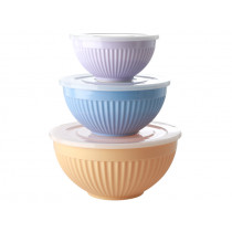 RICE 3 Melamine Bowl Set LET'S SUMMER Colors 2