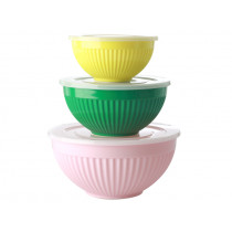 RICE 3 Melamine Bowl Set LET'S SUMMER Colors 1