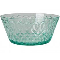 RICE acrylic bowl swirly embossed PASTEL GREEN LARGE