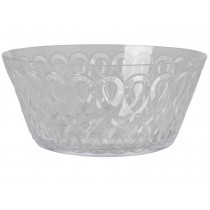 RICE acrylic bowl swirly embossed CLEAR LARGE