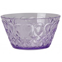 RICE acrylic bowl swirly embossed LAVENDER SMALL