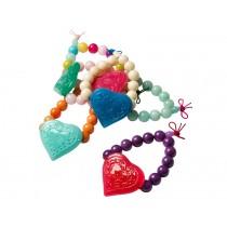 Bracelet with acrylic heart by RICE Denmark
