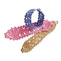 Raffia lace bracelet by RICE Denmark