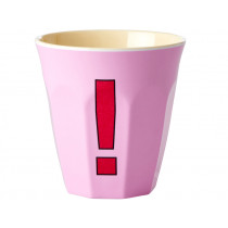 RICE Melamine Cup EXCLAMATION MARK SOFT PINK