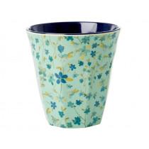 RICE Melamine Cup BLUE FLORAL PRINT