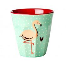 RICE Melamine Cup MINT FLAMINGO