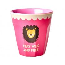 RICE Melamine Cup PINK LION