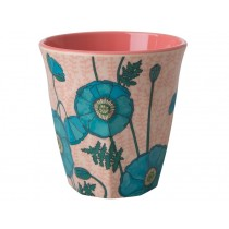 RICE Melamine Cup Blue Poppy