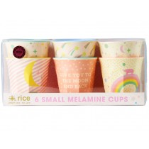 Small RICE cups universe print soft pink
