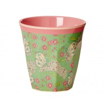 RICE melamine cup butterfly and flower print